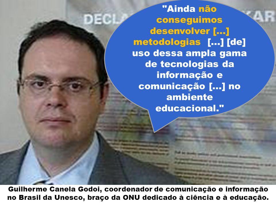 Guilherme Canela Godoi, coordenador de comunicação e informação no Brasil da Unesco, braço da ONU dedicado à ciência e à educação.