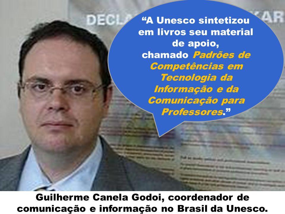 Guilherme Canela Godoi, coordenador de comunicação e informação no Brasil da Unesco. A Unesco sintetizou em livros seu material de apoio, chamado Padr