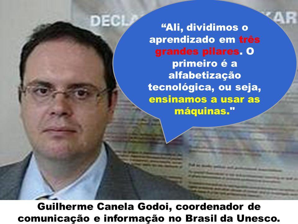 Guilherme Canela Godoi, coordenador de comunicação e informação no Brasil da Unesco. Ali, dividimos o aprendizado em três grandes pilares. O primeiro