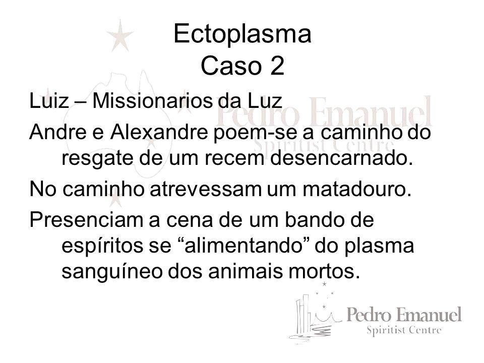 Luiz – Missionarios da Luz Andre e Alexandre poem-se a caminho do resgate de um recem desencarnado. No caminho atrevessam um matadouro. Presenciam a c
