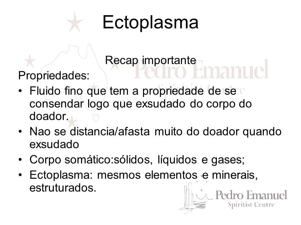 Qual a diferença.Ectoplasma é mais tênue, escapando a observação laboritorial.