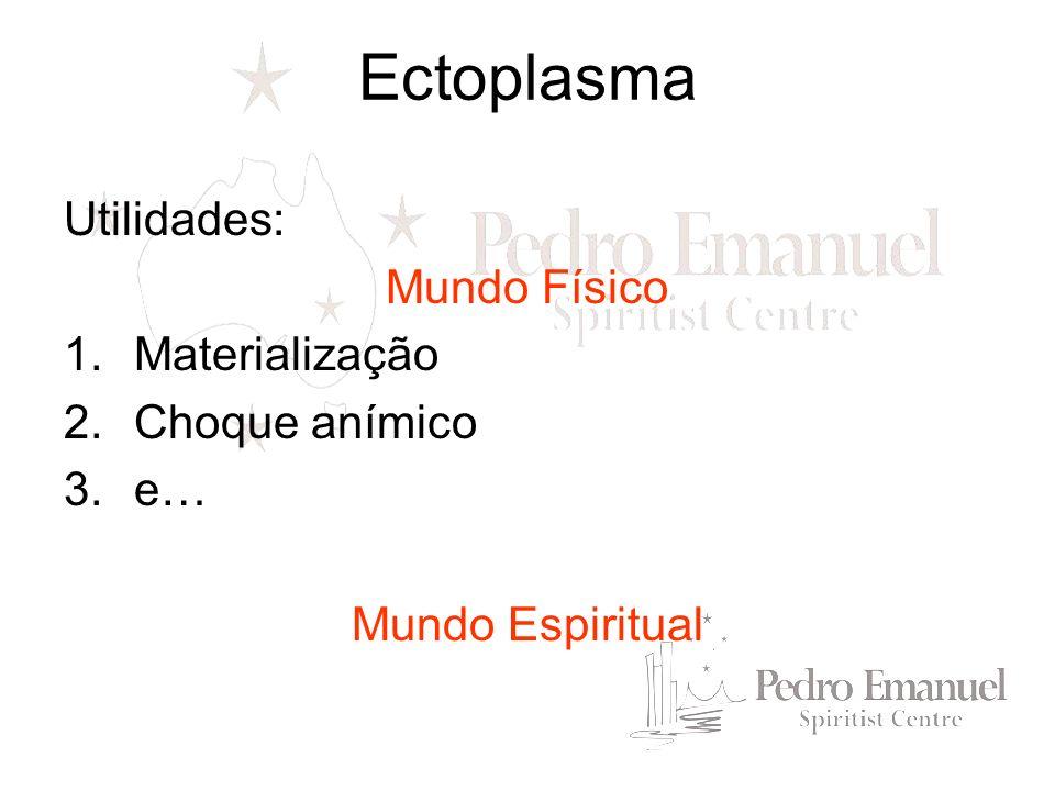 Ectoplasma e erraticidade Erraticidade = estado de existencia sem finalidadeobjetiva e útil, em que se encontram espíritos desencarnados.