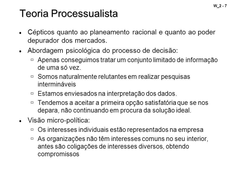 W_2 - 7 Teoria Processualista Cépticos quanto ao planeamento racional e quanto ao poder depurador dos mercados. Abordagem psicológica do processo de d