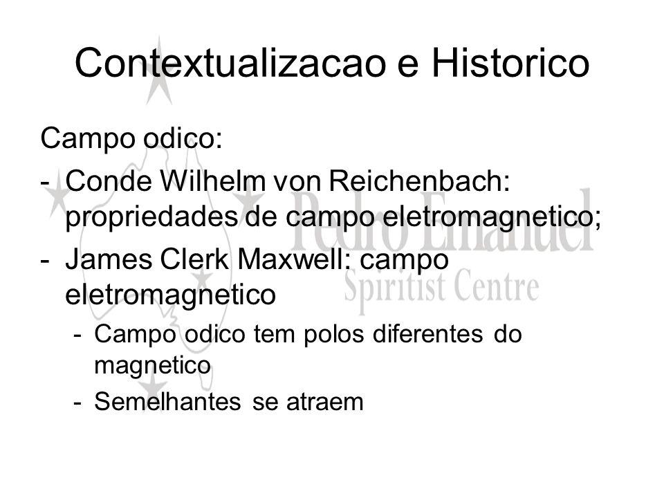 Contextualizacao e Historico Campo odico: -Conde Wilhelm von Reichenbach: propriedades de campo eletromagnetico; -James Clerk Maxwell: campo eletromag