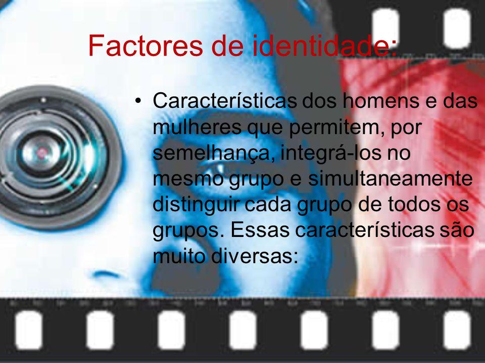 A cultura é formada por um conjunto de elementos: Materiais: Formas de produção; Gastronomia; Técnicas de construção; Vestuário; Etc. Não materiais: L