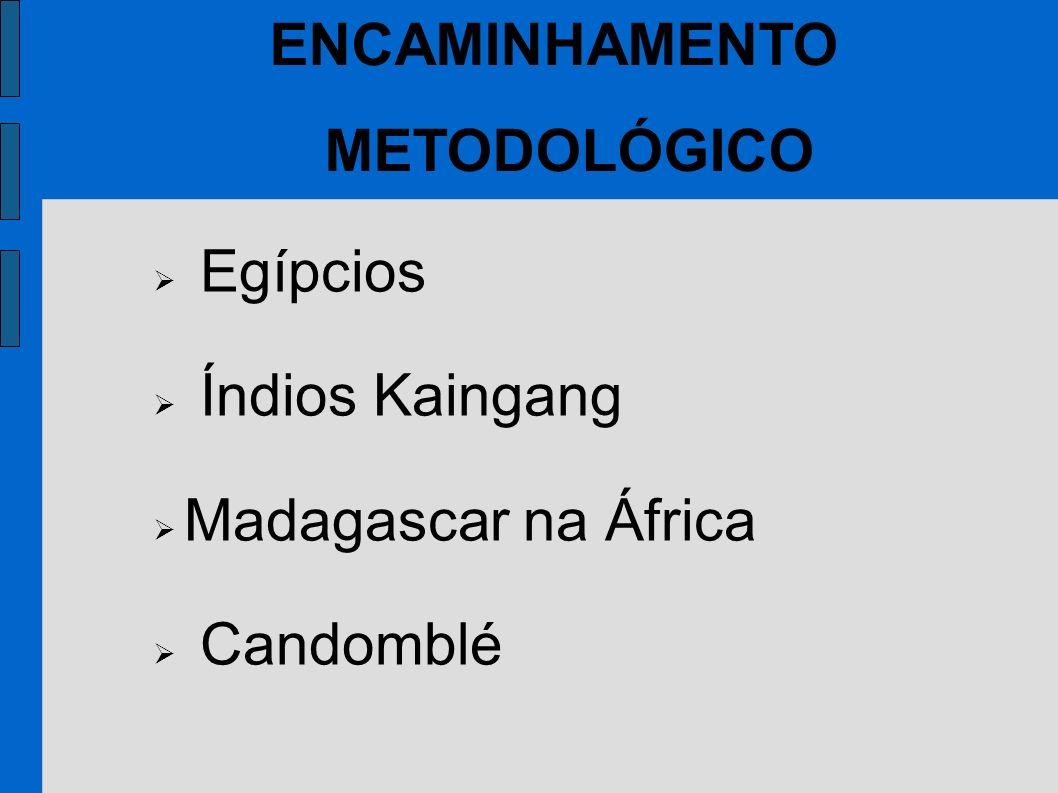 Egípcios Índios Kaingang Madagascar na África Candomblé ENCAMINHAMENTO METODOLÓGICO
