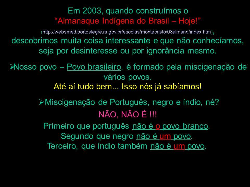 Em 2003, quando construímos o Almanaque Indígena do Brasil – Hoje! (http://websmed.portoalegre.rs.gov.br/escolas/montecristo/03almanq/index.htm),http: