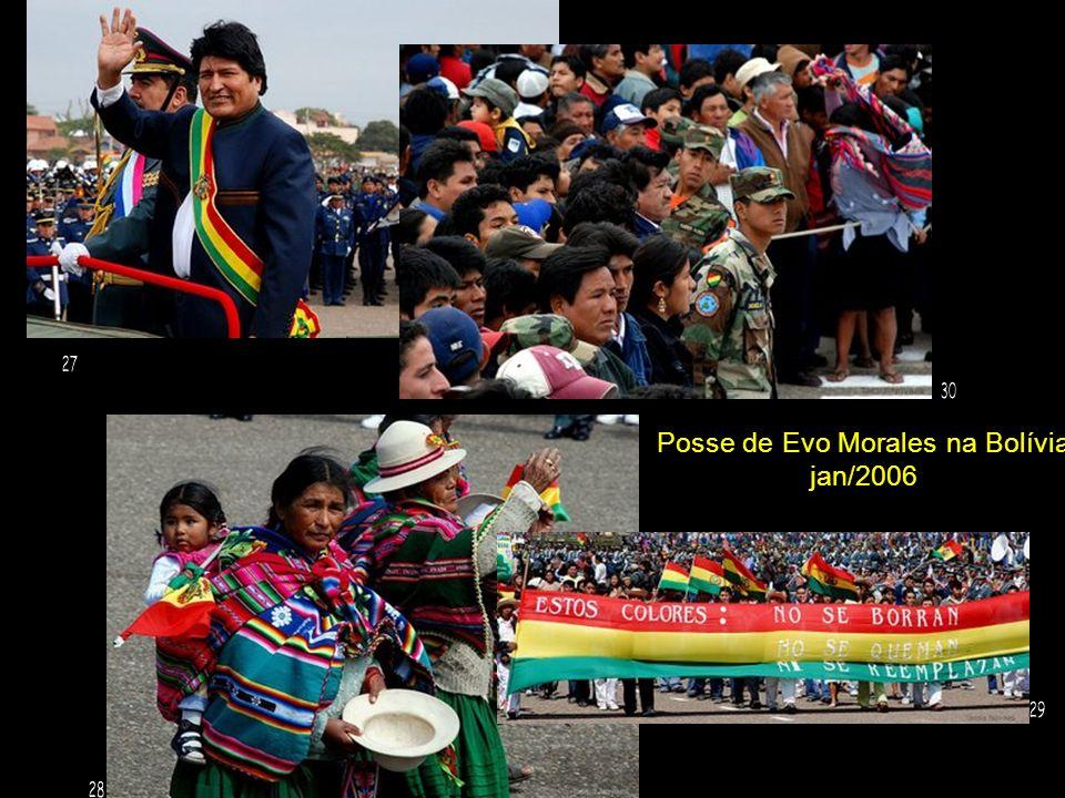 Posse de Evo Morales na Bolívia jan/2006