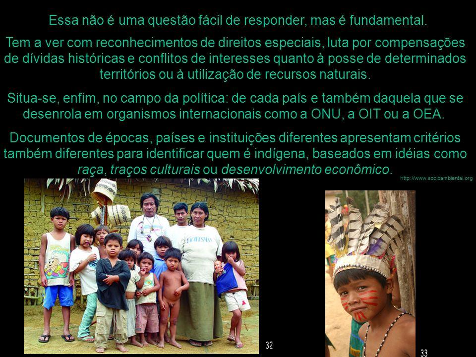 Essa não é uma questão fácil de responder, mas é fundamental. http://www.socioambiental.org Tem a ver com reconhecimentos de direitos especiais, luta