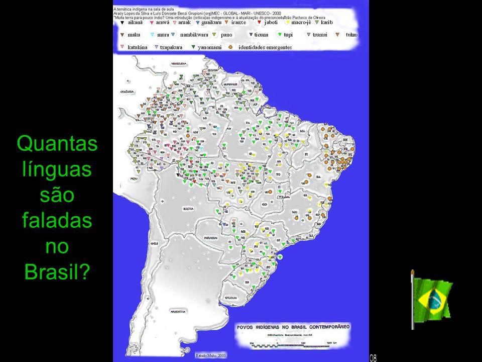 Quantas línguas são faladas no Brasil?