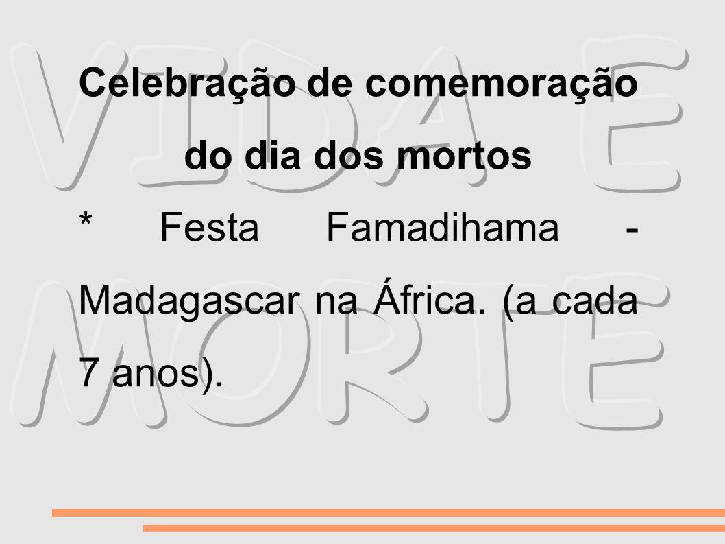 Celebração de comemoração do dia dos mortos * Festa Famadihama - Madagascar na África. (a cada 7 anos).