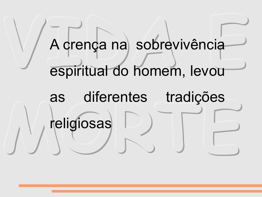 A crença na sobrevivência espiritual do homem, levou as diferentes tradições religiosas