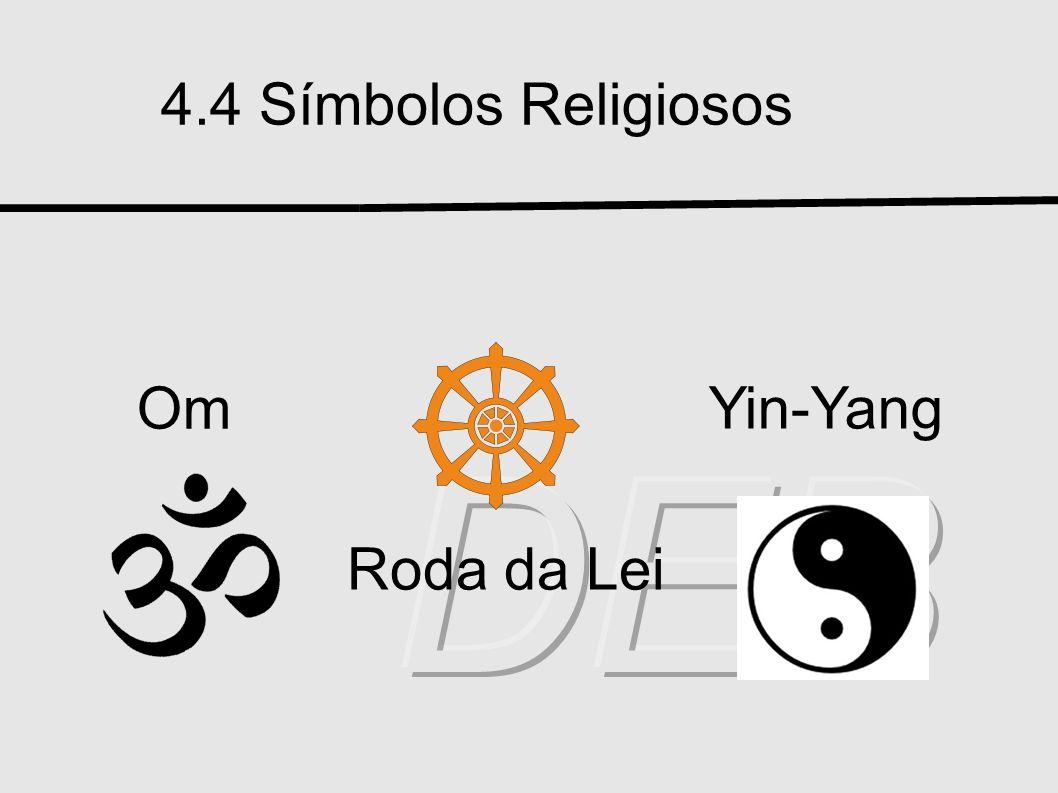 4.4 Símbolos Religiosos Om Yin-Yang Roda da Lei