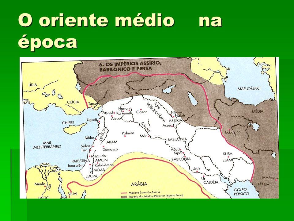 O oriente médio na época