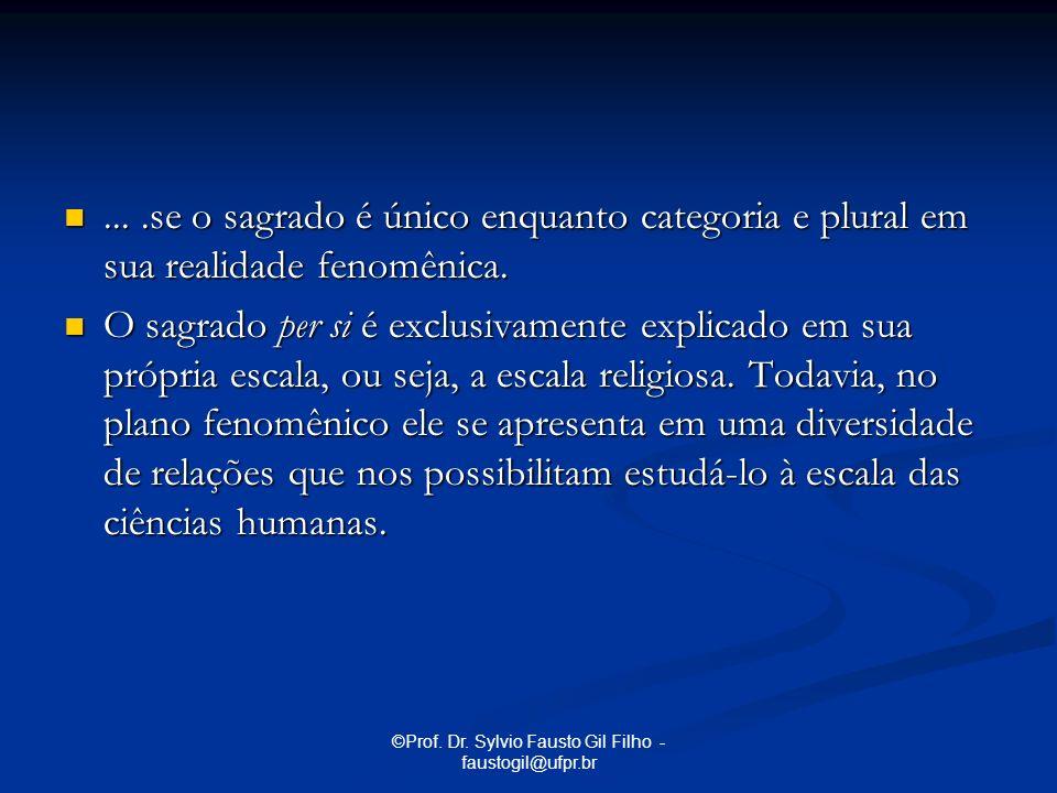 ©Prof. Dr. Sylvio Fausto Gil Filho - faustogil@ufpr.br....se o sagrado é único enquanto categoria e plural em sua realidade fenomênica.....se o sagrad