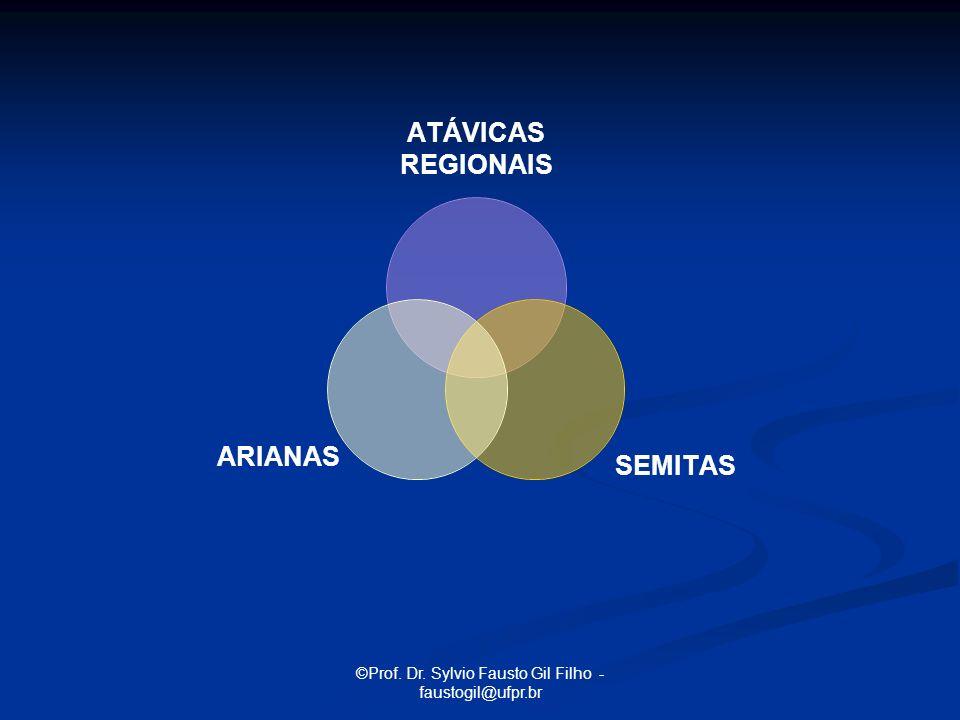 ©Prof. Dr. Sylvio Fausto Gil Filho - faustogil@ufpr.br ATÁVICAS REGIONAIS SEMITAS ARIANAS