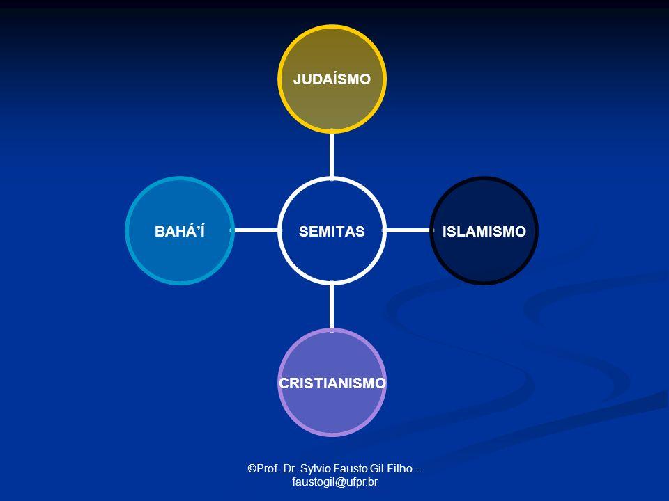 ©Prof. Dr. Sylvio Fausto Gil Filho - faustogil@ufpr.br SEMITAS JUDAÍSMO ISLAMISMOCRISTIANISMOBAHÁÍ
