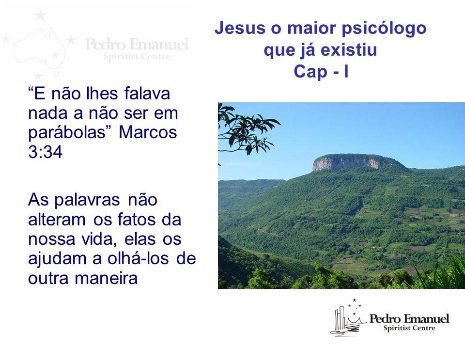 E não lhes falava nada a não ser em parábolas Marcos 3:34 As palavras não alteram os fatos da nossa vida, elas os ajudam a olhá-los de outra maneira J