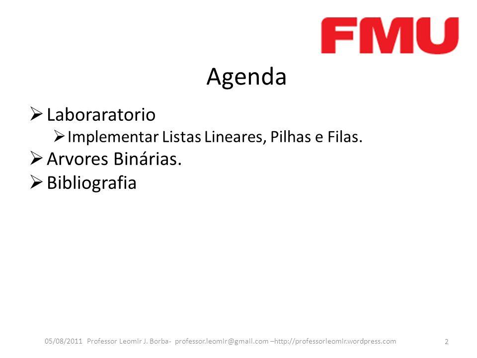 Agenda Laboraratorio Implementar Listas Lineares, Pilhas e Filas.