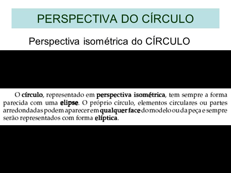 PERSPECTIVA DO CÍRCULO Perspectiva isométrica do CÍRCULO