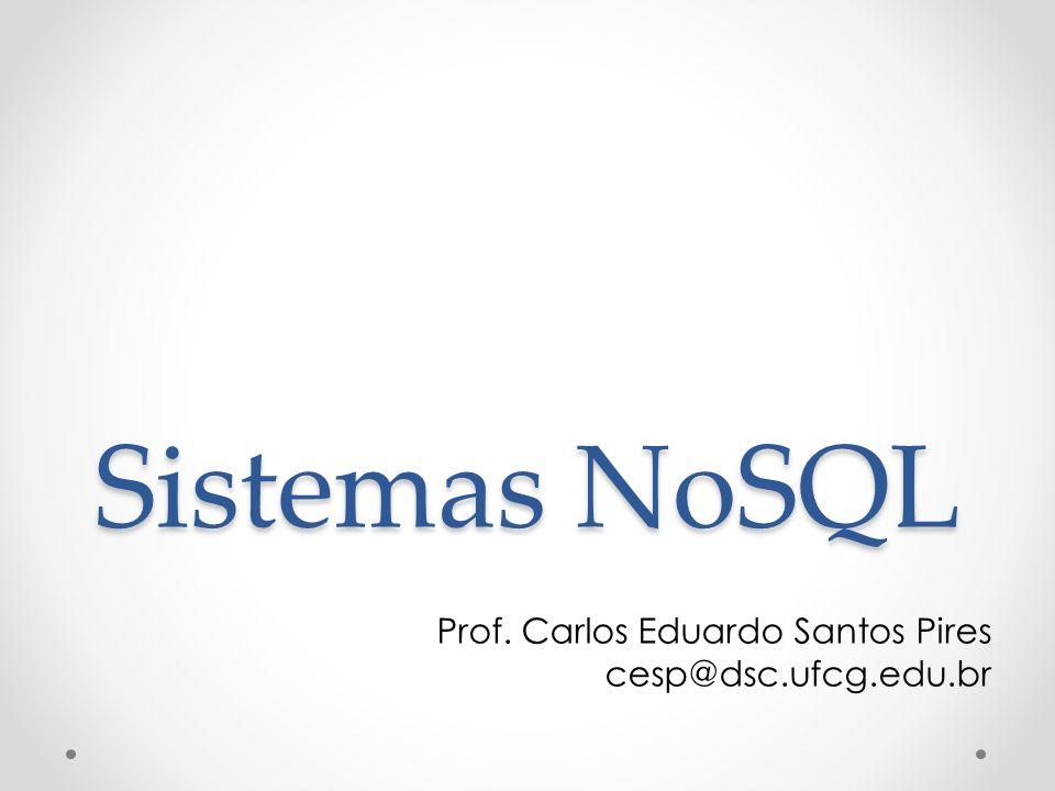 Sistemas NoSQL Prof. Carlos Eduardo Santos Pires cesp@dsc.ufcg.edu.br