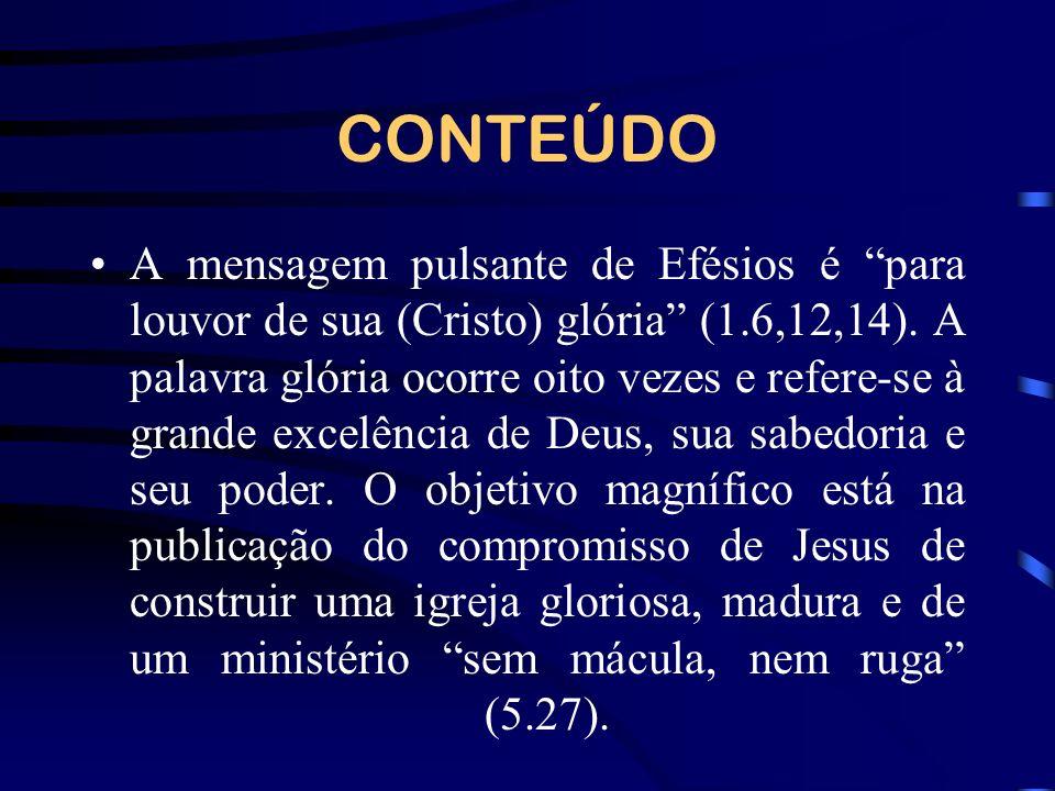 Efésios revela o processo pelo qual Deus está trazendo a igreja para seu objetivo destinado em Cristo.