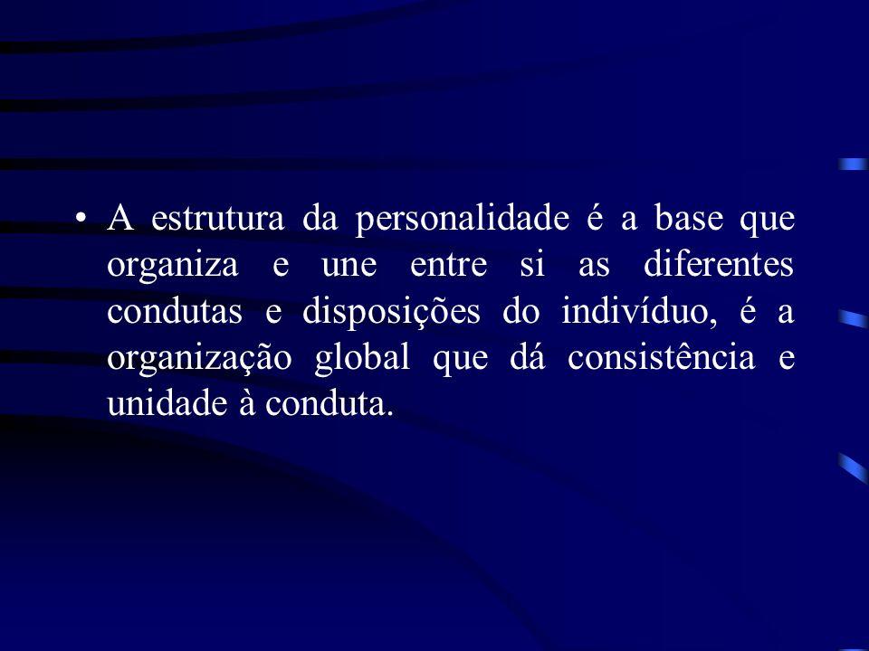 A estrutura da personalidade é a base que organiza e une entre si as diferentes condutas e disposições do indivíduo, é a organização global que dá con