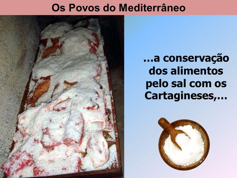 …o uso da moeda com os Gregos. Os Povos do Mediterrâneo