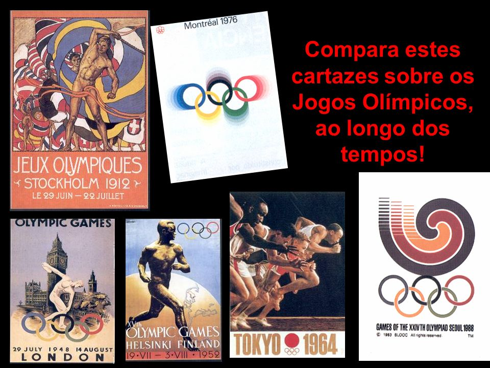 Compara estes cartazes sobre os Jogos Olímpicos, ao longo dos tempos!