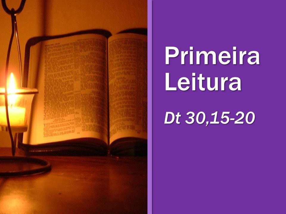 Leitura do Livro do Deuteronômio.