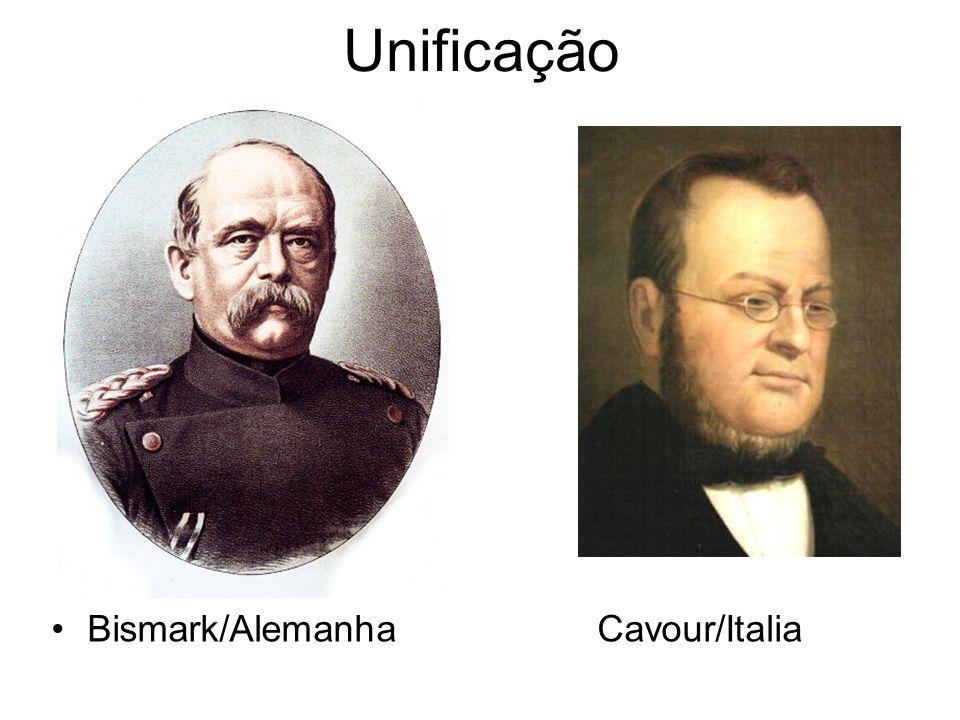 Unificação Bismark/Alemanha Cavour/Italia
