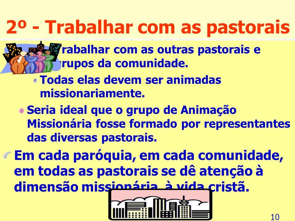Sete passos da caminhada missionária e sua validade 1º - Constituir o Grupo de Animação Missionária (GAM) É de suma importância que haja um grupo ou u