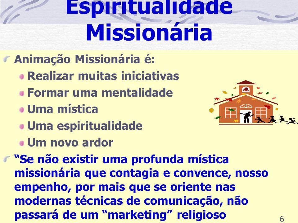 6º - Cooperar com a Missão Universal São três as dimensões da cooperação missionária: Espiritual Econômica Doação Pessoal A 1ª dimensão é a da FÉ A 2ª dimensão é a da CARIDADE A 3ª dimensão é a da ESPERANÇA 16