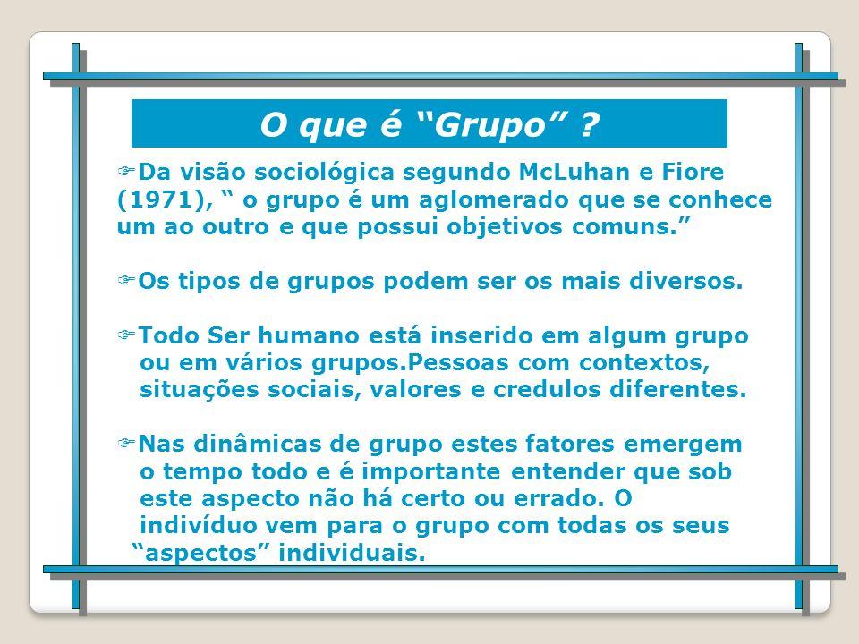 O que é Dinâmica de Grupo ? Para entendermos o que é dinâmica de grupos precisamos falar sobre o que de mais importante existe nesta técnica: AS PESSO