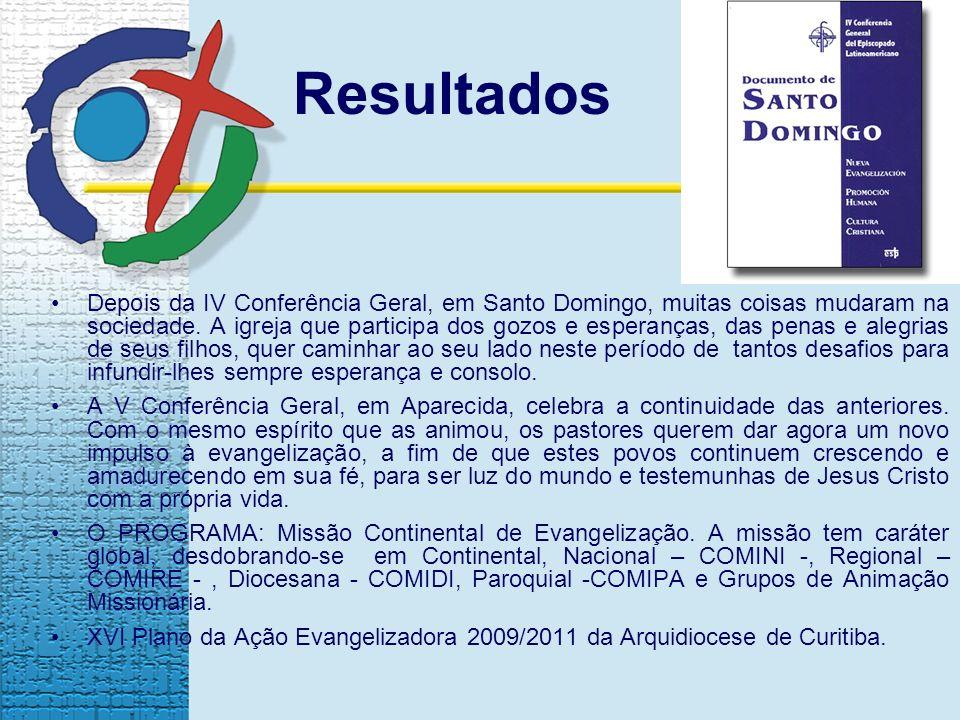 Depois da IV Conferência Geral, em Santo Domingo, muitas coisas mudaram na sociedade.