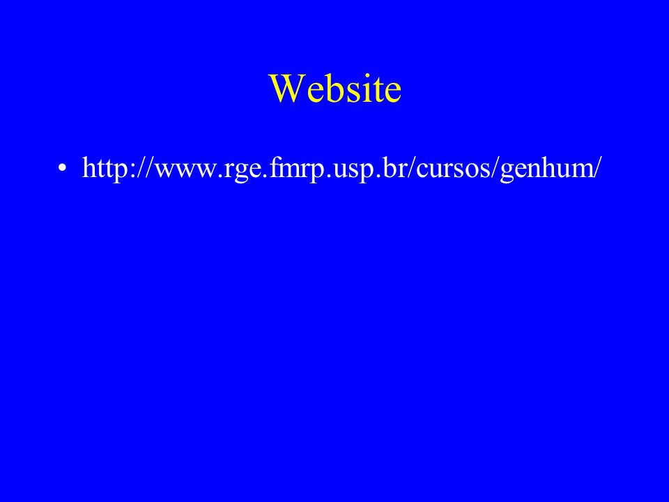 Website http://www.rge.fmrp.usp.br/cursos/genhum/