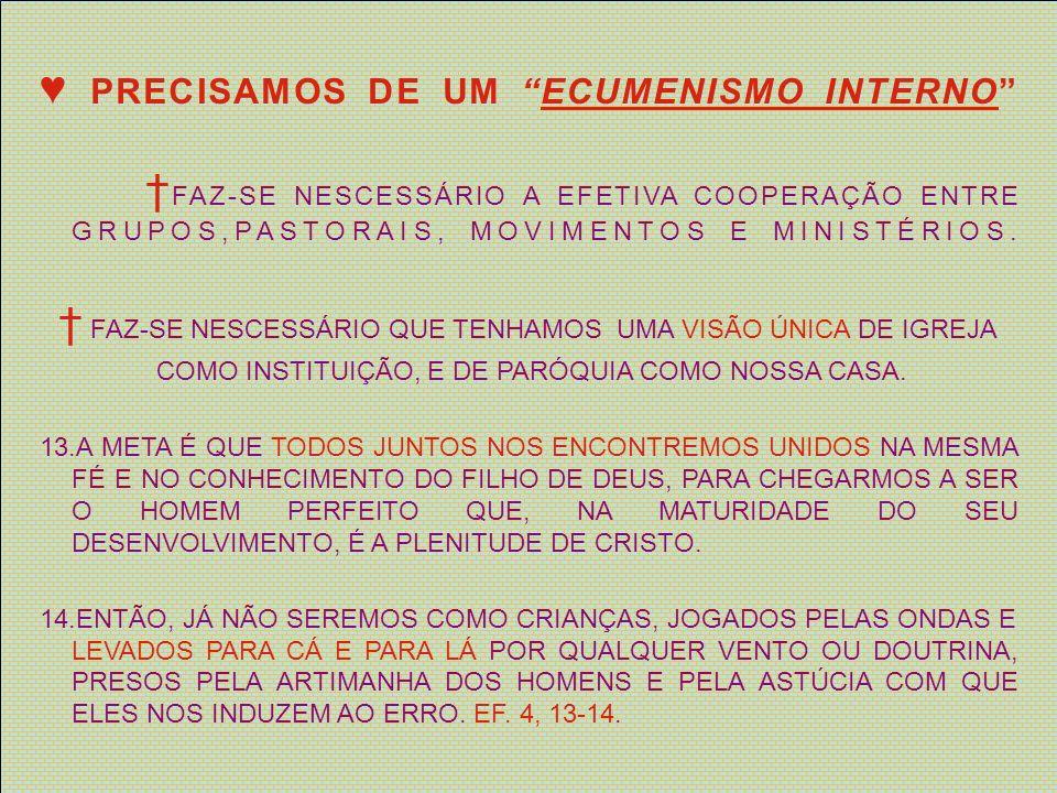 NENHUMA COMUNIDADE DEVE ISENTAR-SE DE ENTRAR DECIDADAMENTE, COM TODAS AS FORÇAS, NOS PROCESSOS CONSTANTES DE RENOVAÇÃO MISSIONÁRIA E DE ABANDONAR AS ULTRAPASSADAS ESTRUTURAS QUE JÁ NÃO FAVORECEM A TRANSMISSÃO DA FÉ.