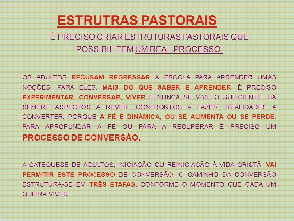 ESTRUTRAS PASTORAIS É AÇÃO MISSIONÁRIA PARA OS NÃO CRENTES, É O ANÚNCIO DO KERÍGMA, REVELAÇÃO PRIMEIRA DE JESUS CRISTO SENHOR.