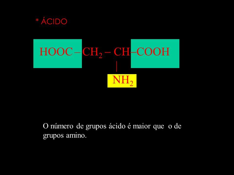 Os aminoácidos se classificam em: * NEUTRO CH 3 CH COOH NH 2 O número de grupos ácido é igual ao o de grupos amino. neparana@ig.com.br