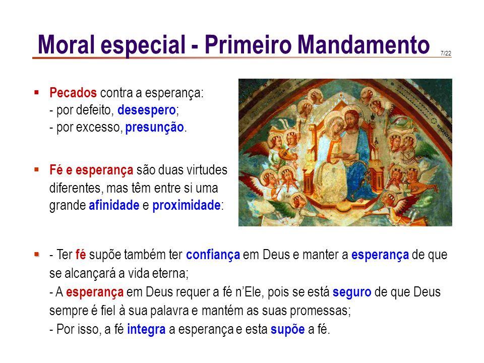 6/22 Moral especial - Primeiro Mandamento CCE 2090 CCE 2090 : Quando Deus se revela e chama o homem, este não pode responder plenamente ao amor divino
