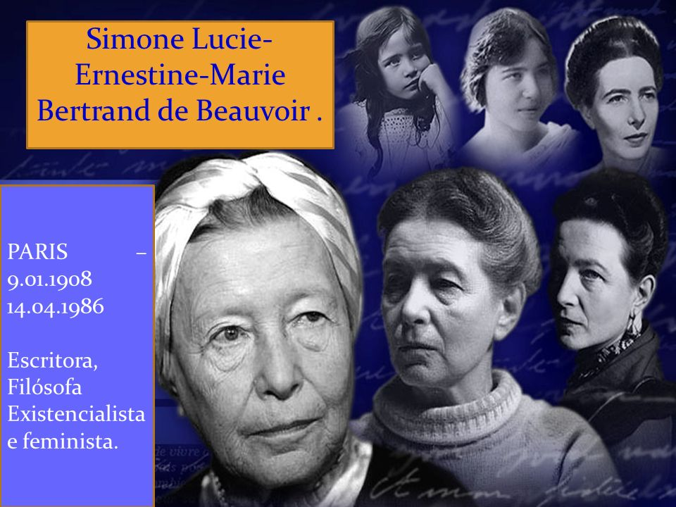 Mais velha das únicas duas filhas de Georges Bertrand de Beauvoir, um advogado em tempo integral e ator amador, e Françoise Brasseur, uma jovem mulher.