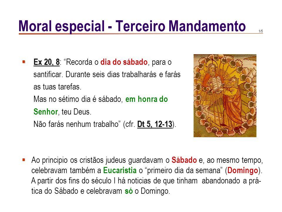 1/5 Ex 20, 8 Ex 20, 8 : Recorda o dia do sábado, para o santificar.