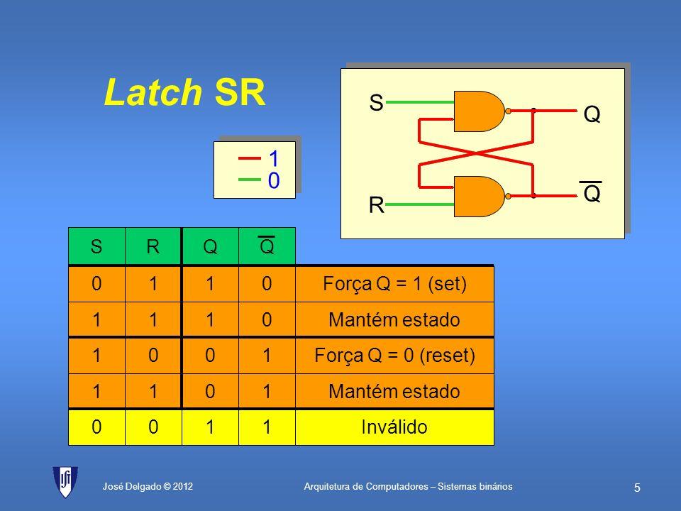 Arquitetura de Computadores – Sistemas binários 4 José Delgado © 2012 Multiplexer 2 para 1 de 8 bits X0X0 MPX Y0Y0 Z0Z0 X1X1 Y1Y1 Z1Z1 X2X2 Y2Y2 Z2Z2