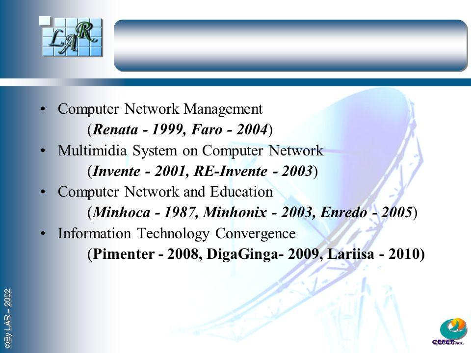 By LAR – 2002 Computer Network Management (Renata - 1999, Faro - 2004) Multimidia System on Computer Network (Invente - 2001, RE-Invente - 2003) Compu