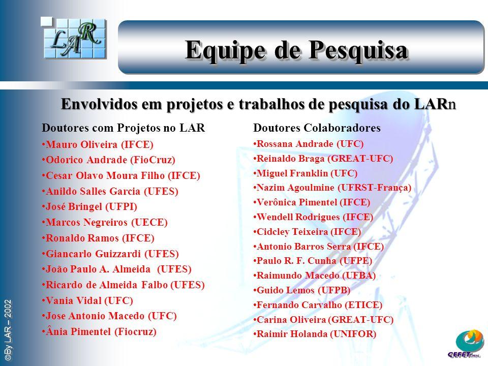 By LAR – 2002 Equipe de Pesquisa Doutores com Projetos no LAR Mauro Oliveira (IFCE) Odorico Andrade (FioCruz) Cesar Olavo Moura Filho (IFCE) Anildo Sa