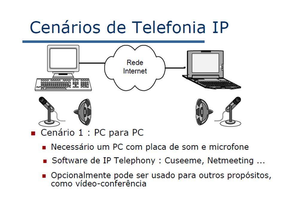 7: Redes Multimídia7a-40 Comparação com o H.323 H.323 é um outro protocolo de sinalização para tempo-real, interativo H.323 é um conjunto integrado de protocolos para conferência multimídia: sinalização, registro, controle de admissão, transporte e codecs.