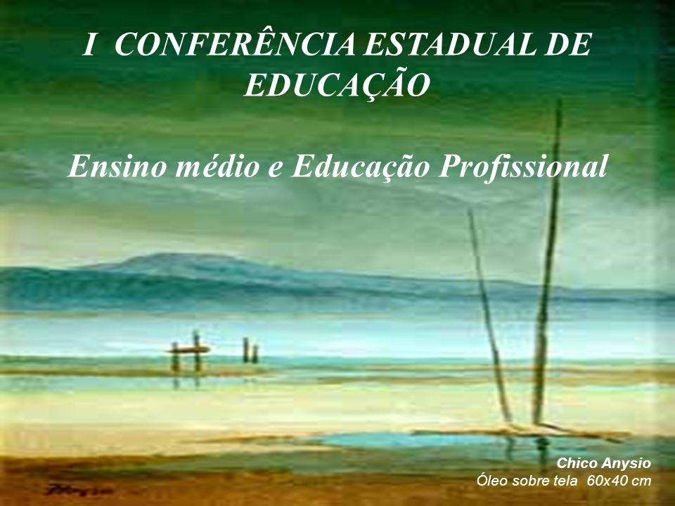 Chico Anysio Óleo sobre tela 60x40 cm I CONFERÊNCIA ESTADUAL DE EDUCAÇÃO Ensino médio e Educação Profissional