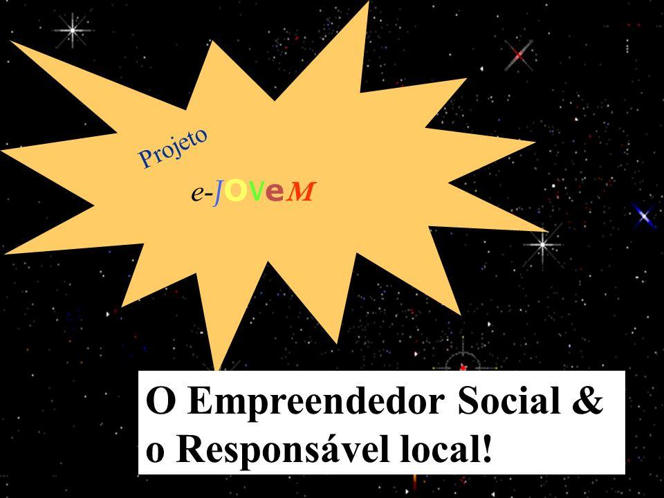 15/1/201429 e- J O V e M Projeto O Empreendedor Social & o Responsável local!