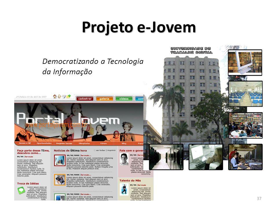 15/1/201437 Projeto e-Jovem Democratizando a Tecnologia da Informação