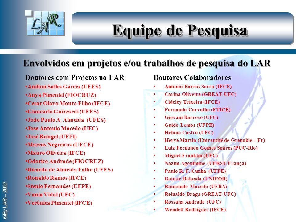 By LAR – 2002 Equipe de Pesquisa Doutores com Projetos no LAR Anilton Salles Garcia (UFES) Anya Pimentel (FIOCRUZ) Cesar Olavo Moura Filho (IFCE) Gian